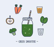Grüner Smoothie-Vektor vektor