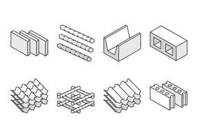 Konstruktionsmaterial ikoner