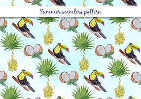Tropisk vektor sommar sömlös mönster