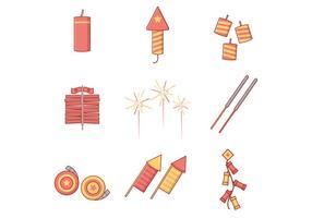 Gratis Firecrackers Vector