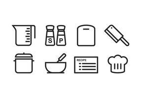 Gratis matlagning ikonuppsättning