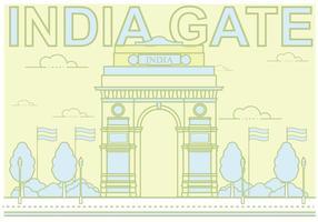 Free india gate illustration vektor