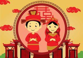 Kostenlose chinesische Hochzeit Illustration vektor