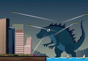 Gratis Godzilla Illustration vektor