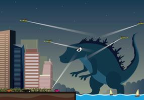 Kostenlose Godzilla Illustration vektor