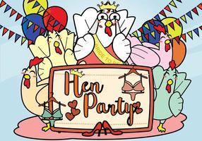 Gratis Hen Party Illustration vektor