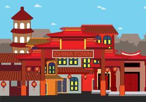 Gratis Kina Town Illustration vektor