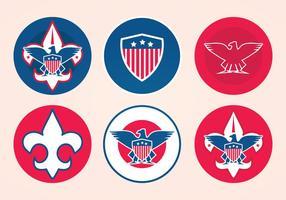 Eagle scout vektor märken