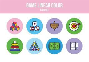 Freies Spiel Icon Set vektor