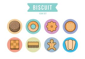 Gratis Cookie Icon Set vektor