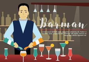 Gratis barman illustration vektor