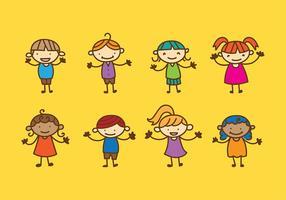 Barndagskaraktärvektor vektor