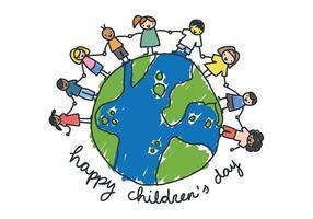 Kids World Children's Day Vector