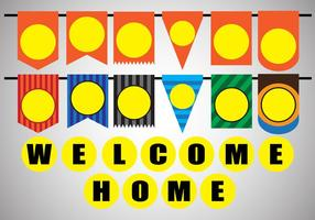 Vektor Stock Dekoration von Willkommen Haus Partei