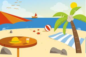 Gratis Summer Beach Vector Illustration