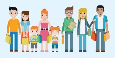 Free Shopping Menschen Vektor