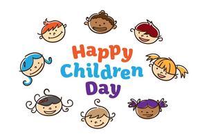 Kinder Tag Vektor