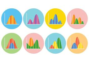 Free Bell Curve Icons Vektor