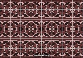 Fliesenboden Hintergrund - Ornamentale Vektor Muster