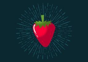 Strahlende Erdbeere vektor