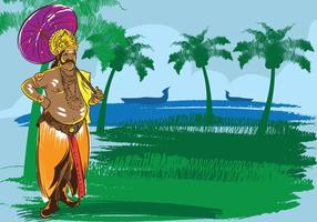 Onam festival illustration vektor