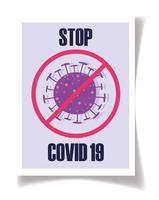 stoppa coronavirussjukdom vektor
