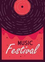 modern affischmusikfestival med musikinstrument vektor