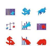 Börse Satz von Symbolen