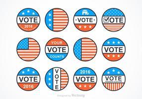 Vector Präsidentenabzeichen