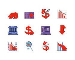 Symbole Satz der Börse