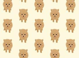 Pomeranian hund vektor mönster