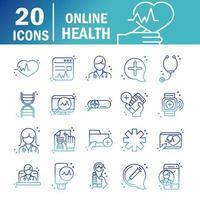 online hälsa ikoner vektor