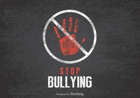 Stoppen Sie Mobbing Vektor Poster