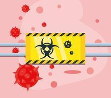 Biogefährdungszeichen einer Coronavirus-Infektion