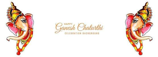 akvarell herre ganesh för ganesh chaturthi banner vektor