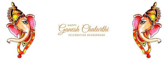 Aquarell Lord Ganesh für Ganesh Chaturthi Banner
