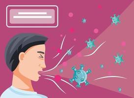 Mann mit Coronavirus infiziert leiden Symptome