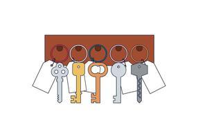 Freier Schlüsselhalter Vektor