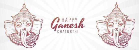 kreativa konstnärliga ganesh chaturthi festival banner vektor