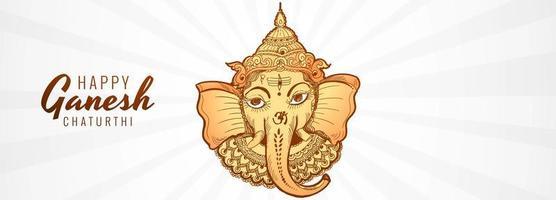 lord ganpati banner för ganesh chaturthi vektor