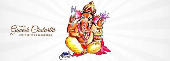 lord ganpati banner för ganesh chaturthi bakgrund vektor
