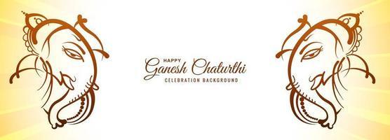 festival för glad ganesh chaturthi banner vektor