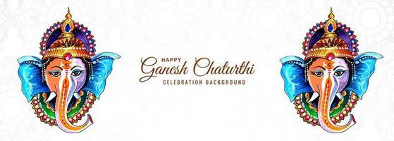 hinduisk gud ganesha för glad ganesh chaturthi festival banner vektor