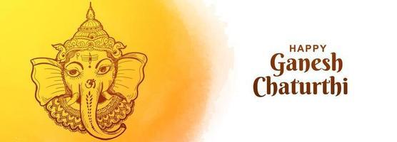 indisches Festival für Ganesh Chaturthi Kartenbanner