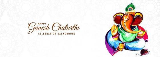 Gott Ganesha für glückliche Ganesh Chaturthi Festival Banner