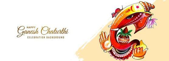 färgglada herre ganesha för ganesh chaturthi festival banner vektor