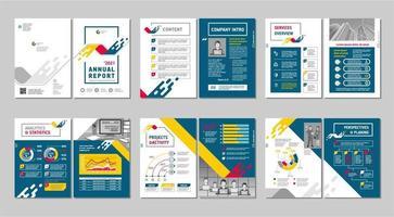 modern minimalistisk abstrakt trendig design broschyr uppsättning vektor