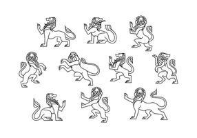 Gratis Lion Rampant Vector