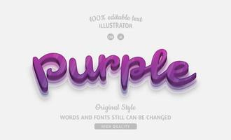 glansig lila lager text effekt vektor