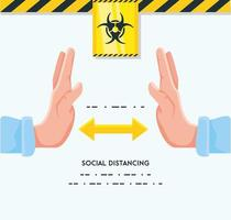 Infografik, um Abstand zu Menschen zu halten vektor